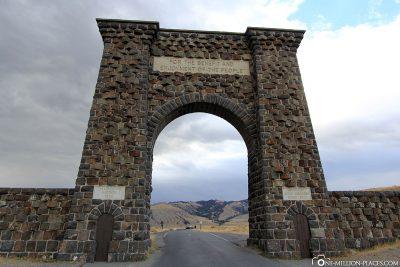Der östliche Ausgang des Yellowstone Nationalsparks