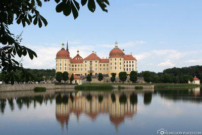 The castle pond at Moritzburg Castle