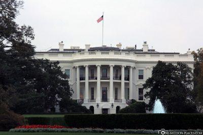 Die Südansicht vom Weißen Haus