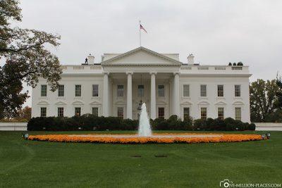 Die Nordansicht vom Weißen Haus