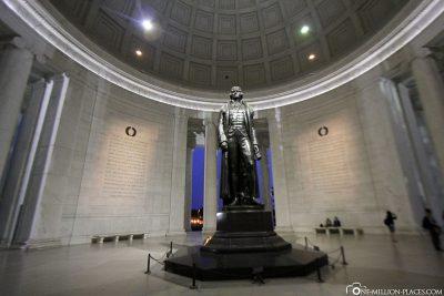 Das Jefferson Memorial im Inneren