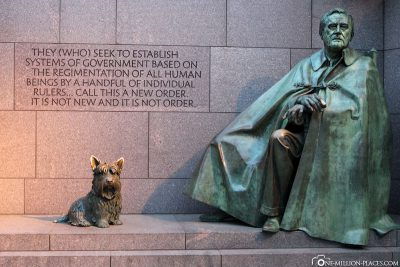 Statue des Präsidenten Franklin Delano Roosevelt
