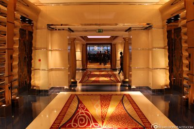 The way to the elevators