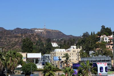 The Hollywood Sign in the Mountains