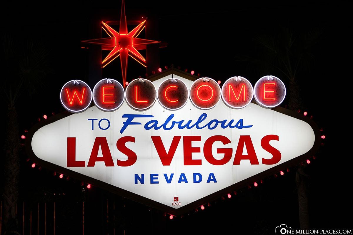 Willkommen, Las Vegas, Nevada, USA, Glücksspielmetropole, Reisebericht