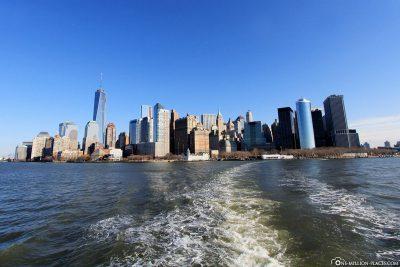 Die Fahrt von Manhattan nach Liberty Island