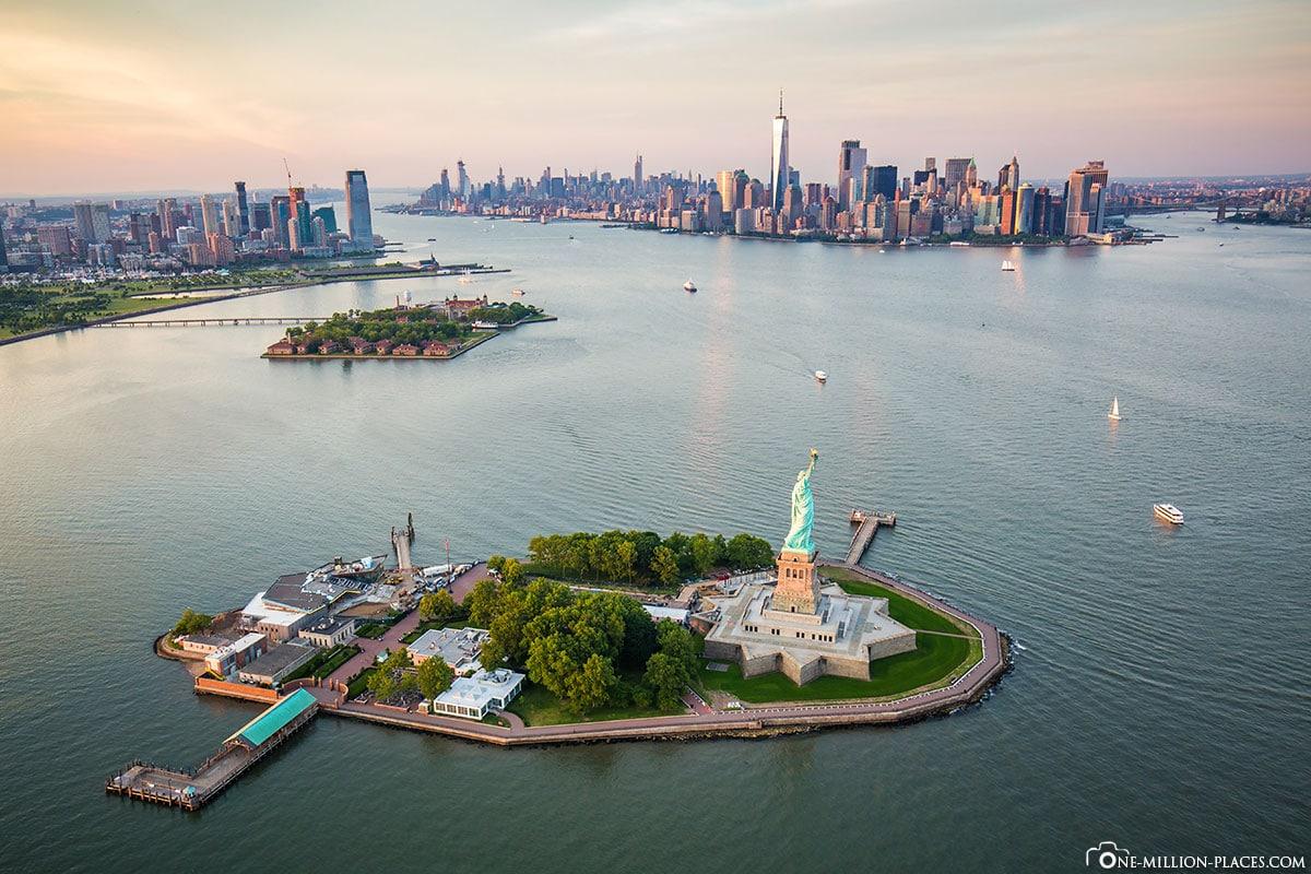 Liberty Island, Ellis Island & Manhattan, New York City, USA, UNESCO Welterbe, Tagesausflug, Reisebericht