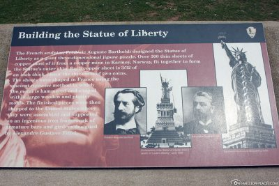 The construction of the Statue of Liberty