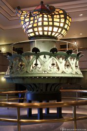 The interior of the Statue of Liberty