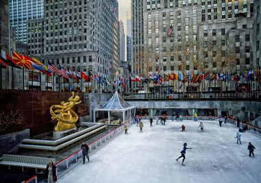 The ice rink at Rockefeller Center