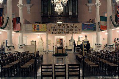 Gedenkstätte in der St. Paul's Chapel