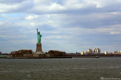 The Statue of Liberty and New York