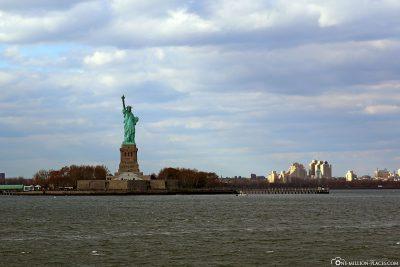 Die Freiheitsstatue und New York