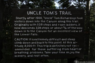Der Uncle Tom´s Trail