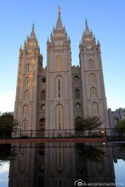 Der Blick vom Tempel Square