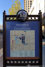Eine Karte von Downtown