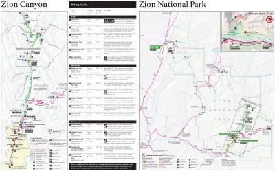 Eine Karte vom Zion Nationalpark