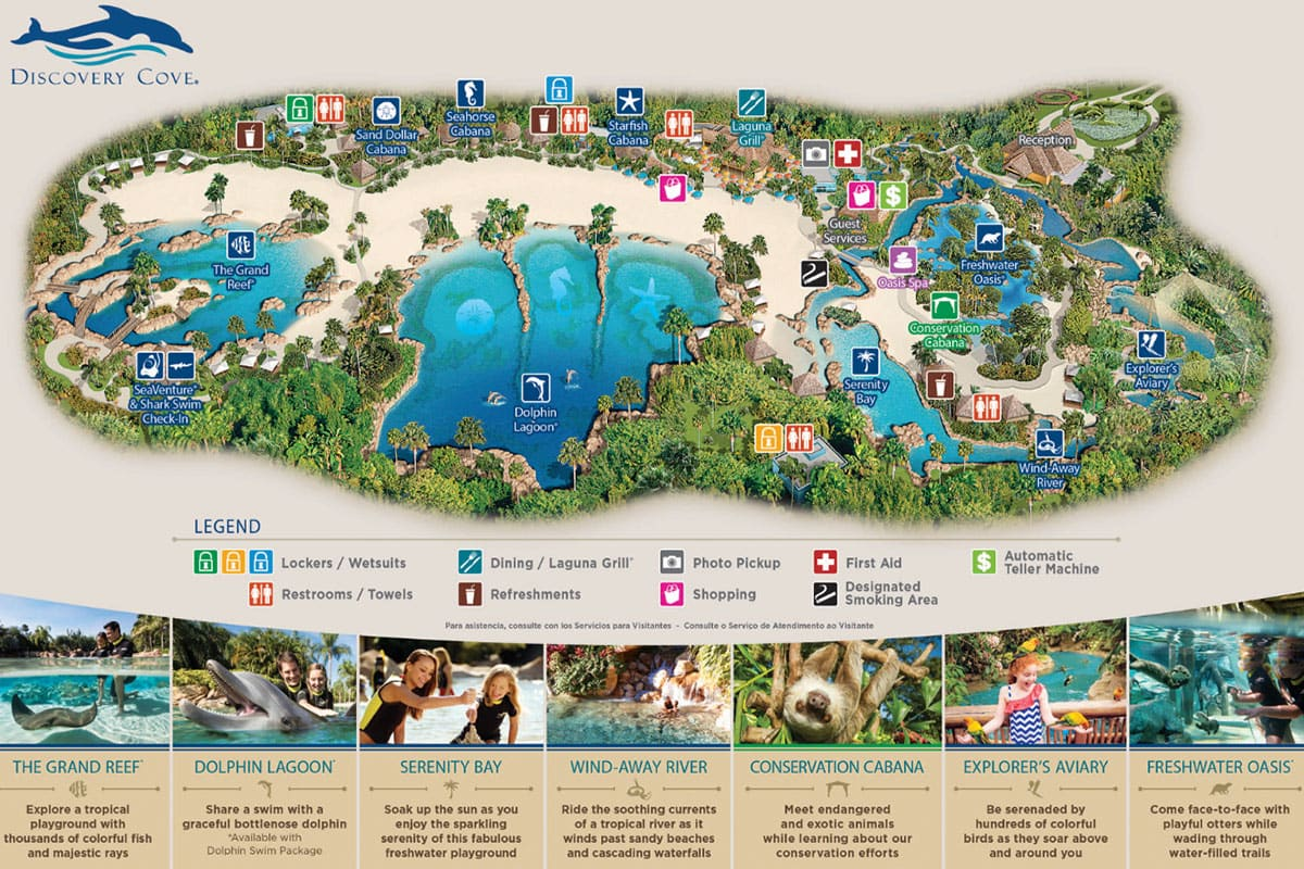 Orlando Discovery Cove Map