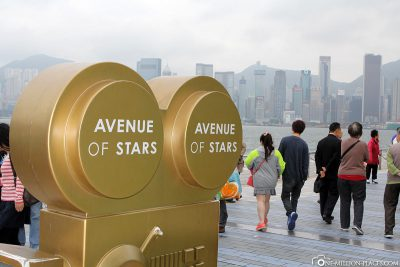 The Avenue of the Stars at Victoria Harbour
