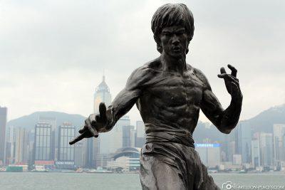 Statue von Bruce Lee