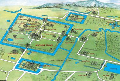 Eine Karte von Angkor Wat