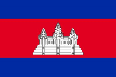 Angor Wat auf der Flagge von Kamdodscha