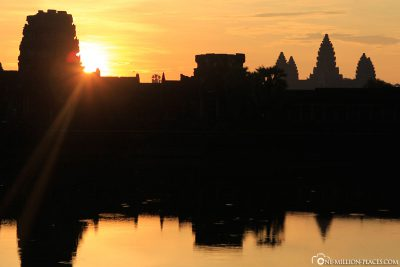 The sunrise over Angkor Wat