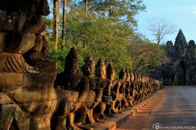 The Gods at the South Gate of Angkor Thom