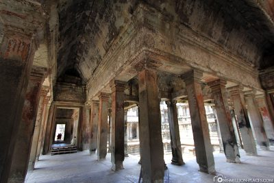 The interior of the temple