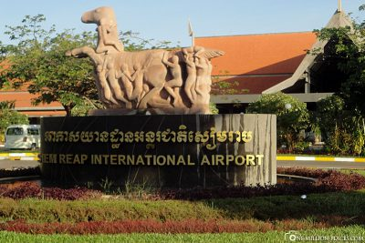 Am Flughafen Siem Reap