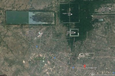 Die Lage des Gloria Angkor Hotel
