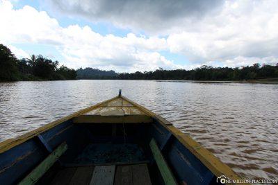 Der Start der Flussfahrt