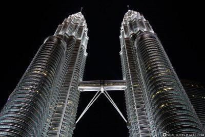 The illuminated towers