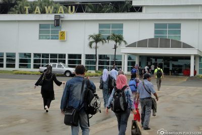 Der Flughafen von Tawau