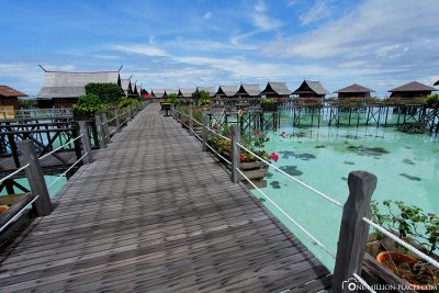 The jetty to the water bungalows