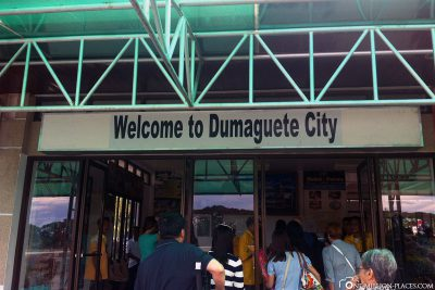 Arrival at the airport in Dumaguete City