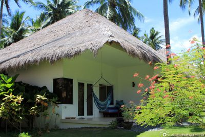 Our bungalow in the resort