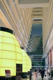 The atrium of Marina Bay Sands