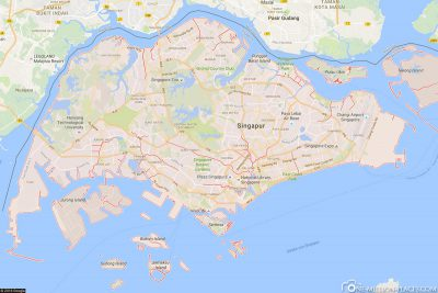 Singapore in Google Maps