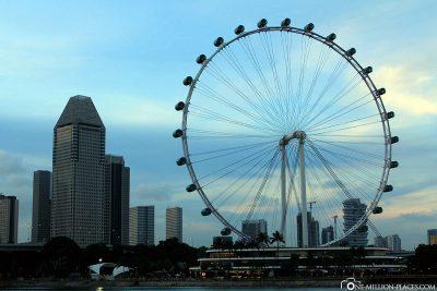 Das Riesenrad in Singapur