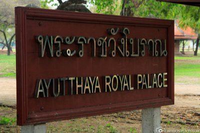 The Royal Palace in Ayutthaya