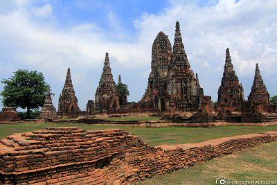The Buddhist temple complex