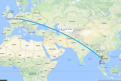 Our flight from Frankfurt via Bangkok to Phuket