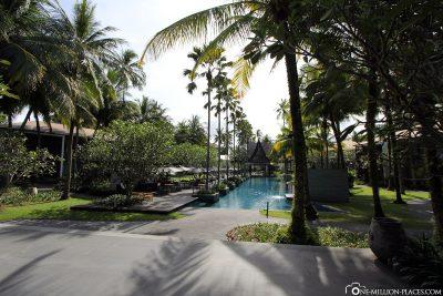 The beautiful hotel complex