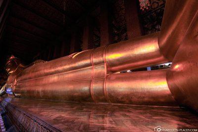 Die liegende Buddha-Statue im Wat Pho