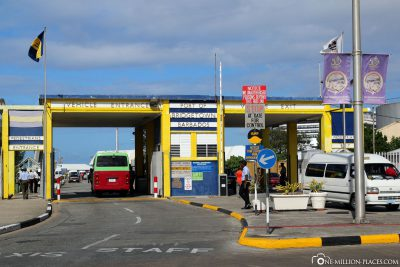 The entrance to the Cruise Terminal