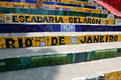 The colorful stairs in Rio de Janeiro