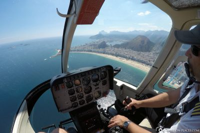 By helicopter over Rio