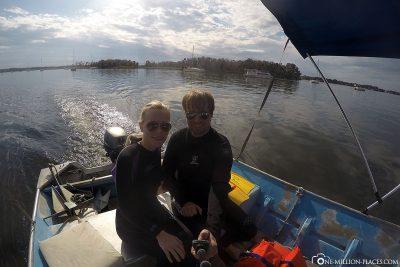 By boat in Kings Bay