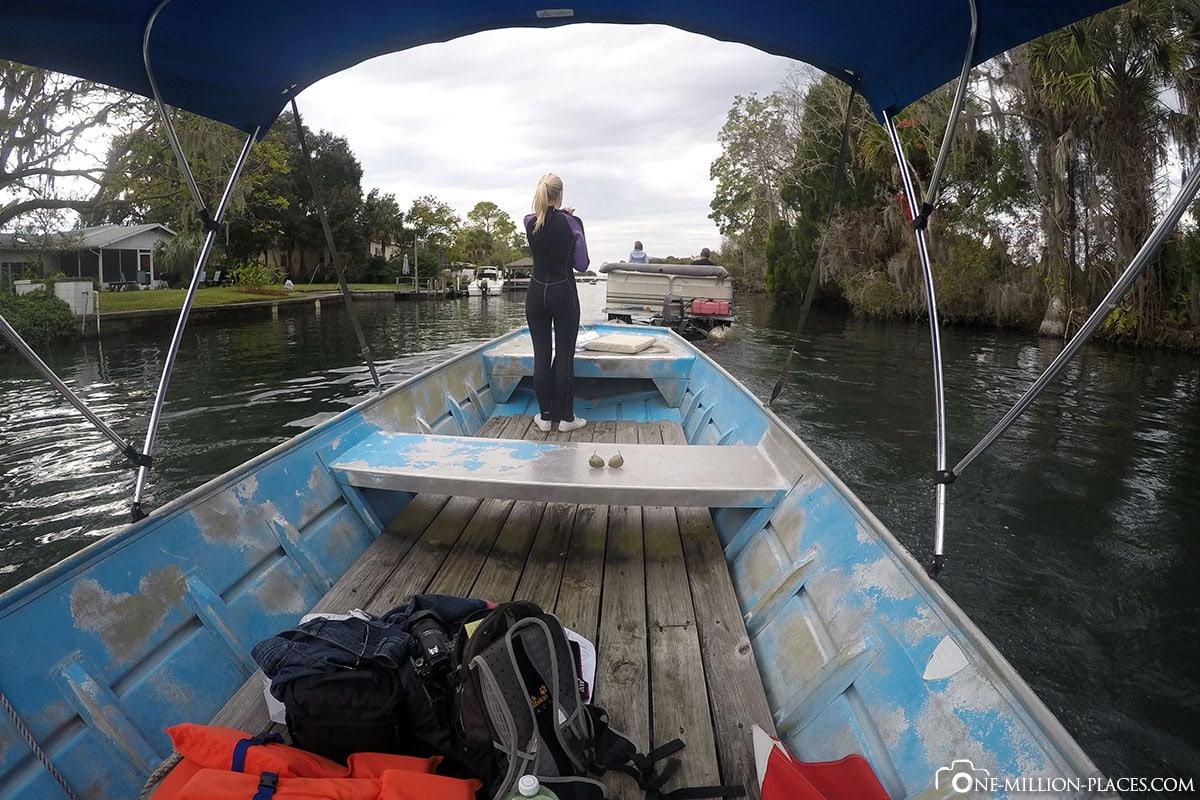 Crystal River, Florida, Travel Report, USA, Boat